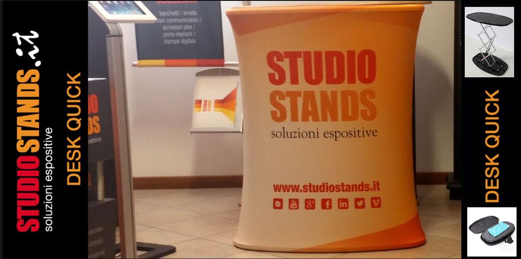 Desk Quick: l`allestimento istantaneo di Studio Stands