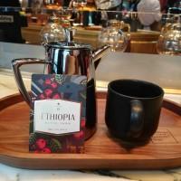 Un infusione siphon di caffè Ethiopia