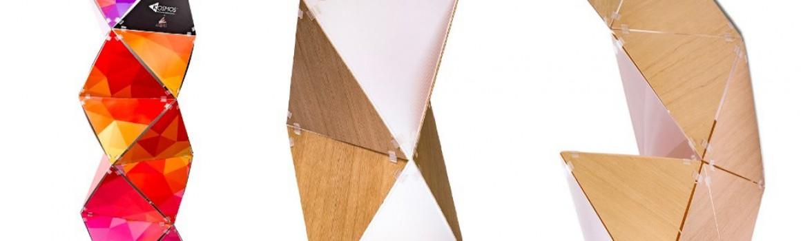 Kosmos, ora anche in legno per l'arredo espositivo di design